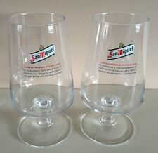2 X New Cerveza San Miguel Pint Glasses