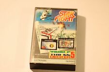 Acorn Electron Cassette Game 3 GAMES PACK STAR FIGHT SKRAMBLE KARATE WARRIOR
