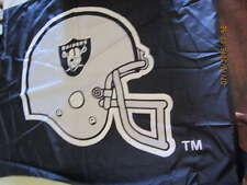 large Oakland Raiders Flag - folded 3 ft x 5 ft