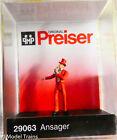 Preiser HO #29063 Circus -- Ring Master (Painted) Plastic Figure (1:87th)
