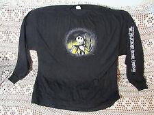 NIGHTMARE BEFORE CHRISTMAS Long Sleeve T-Shirt 2XL Print down Sleeve Disney