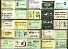 25 alte Gasthaus-Streichholzetiketten aus Deutschland #566