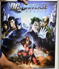 DC Universe Online KEY ART POSTER 22x34 DC 2010 Trends Joker Catwoman Lex Batman