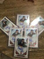 2014 Bowman Chrome Michael Chavis Prospect Autograph Red Sox Auto BCA-MIC 1st ED