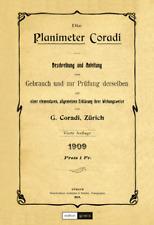 Buch »Die Planimeter Coradi«, Gebrauchsanleitung Beschreibung Schweizer Planimet
