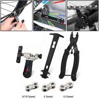 Bike Chain Splitter Tool Cutter Plier Chain Checker Magic Link 6 7 8 9 10 Speed
