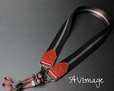 TP Vintage DSLR SLR Evil Camera Neck Shoulder Leather Strap - Dark Brown