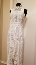 chelsea 28 Casual Ivory Cloud lace-midi-dress-Sleeveless, Size Small