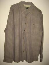 Eddie Bauer Blue Striped Heavy Cotton LS Shirt L EUC