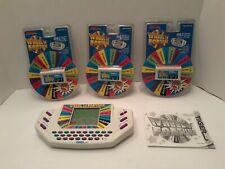Vintage 1995 Tiger Electronics - Wheel Of Fortune Handheld Game W/ 5 Cartridges