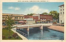 Westerly RI~State Line Bridge~McCormick's Department Store~United Fruit Co~1940s