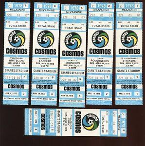 1978 NASL Soccer New York Cosmos Full Tickets 12 Different
