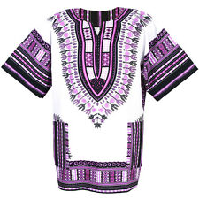 Cotton African Dashiki Mexican Poncho Tribal Boho Shirt White ad12wv1