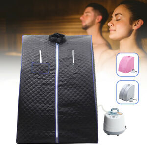2L Steam Sauna Spa Room Home Full Body Slimming Detox Therapy Tent +Chair,Remote