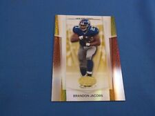 Brandon Jacobs Leaf Certified Materials 2007 10 Mirror Gold Short Print SP 15/25