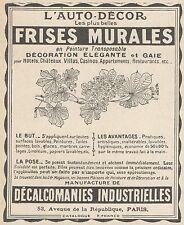Z9880 L'Auto-Decor - Frises Murales -  Pubblicità d'epoca - 1924 Old advertising