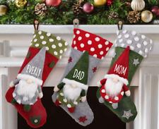 Personalized Swedish Gnome Farmhouse Christmas Stocking custom any name