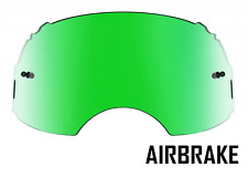 GOGGLE-SHOP GREEN MIRROR LENS to fit OAKLEY AIRBRAKE MOTOCROSS GOGGLES