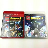 LEGO Batman Lot Of 2 Games, DC Super Heroes 2, Beyond Gotham 3 Playstation 3 CIB
