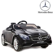 voiture électrique enfant bébé 4X4 noir Mercedes S63 Luxe 12 Volts télécommande