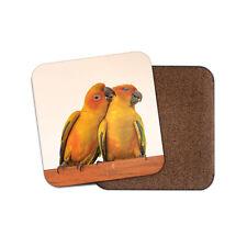Love Bird Couple Coaster - Cute Parrot Pretty Wife Animals Mum Aunt Gift #15455