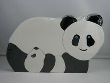 PANDA BEAR WOODEN PUZZLE Pier 1 Imports 8 Piece Mama & Baby Childrens Jigsaw NEW