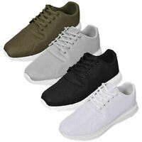 Mens Trainers Lace up Comfy Walking Sports Running Gym Casual Sneakers Shoes UK