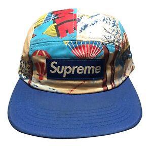 Supreme Hot Air Balloon Lodge Camp Cap FW08 Blue Hat Streetwear Skateboarding
