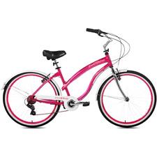 "26"" Kent Del Rio Women'sComfortable New 7 Speed Cruiser Bike Magenta Ships Free!"