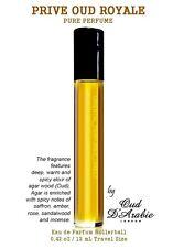 Prive Oud Royal Pure Perfume Oil 12ml Rollerball Armani Type Attar Itr A Grade
