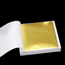 100 Blatt Goldfolien Blatt Blätter Für Kunsthandwerk Entwurf Vergolden Fram M6Y7