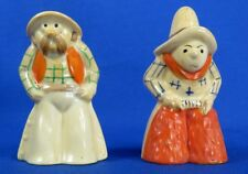 Vintage Cowboy and Cowgirl Salt & Pepper Shakers, Japan, Ceramic