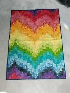 Rainbow bargello quilted wallhanging