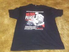 Blood Feast vintage horror promo shirt 2005 Lg Herschell Gordon Lewis Gore