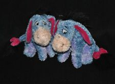 Lot 2 peluche doudou bourriquet DISNEYLAND Resort bleu mauve fushia 17 cm assis