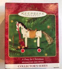 A Pony for Christmas - Collectors 2000 - Teddy Bear - Hallmark Keepsake Ornament
