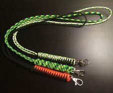 Paracord Survival Lanyard Snake Weave USA Made Custom COLORS
