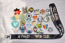 Disney trading 25 pin lot + Star Wars logo LANYARD booster Hidden Mickey Tsum