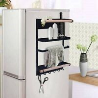 Magnetic Rack Organizer Fridge Hanging Paper Towel Holder Jars Spices Storage