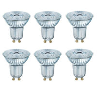 OSRAM LED SUPERSTAR PAR16 GU10 GLAS 8W=80W 575lm warm white 2700K dimmable A+6er
