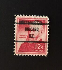 Chicago, Illinois Precancel - 12 cents Harrison (U.S. #1045) SRC Mar 63 use IL