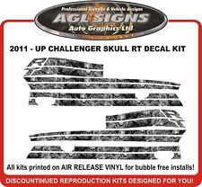 2011 - up Dodge Challenger RT Skull Side Stripes graphics