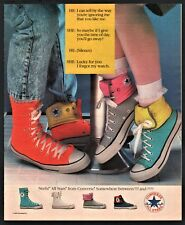 1987 CONVERSE All Stars Sneakers high Tops Vintage Print Photo AD