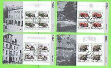 Guernsey 1994 conjunto de cinco paneles de folleto de coches bien usada