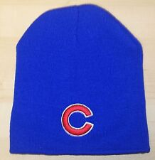 "CHICAGO CUBS  ROYAL BLUE  WINTER BEANIE HAT   ""C"""