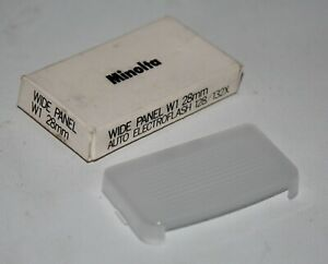 Minolta Wide Panel W1 28mm for Auto Electroflash 128 & 132X - vgc