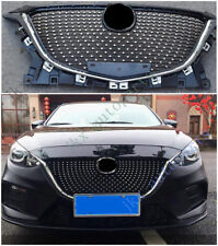ABS Chrome Front Middle Bumper Mesh Grille Grill For Mazda 3 Axela 2014-16