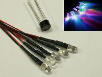 W12 - 10 Stück LED 5mm RGB mit Kabel f. 12-19V fertig verkabelt Rainbow schnell