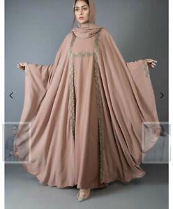 Designer Branded Dubai Abaya Modest Islamic Dress Eid Party Wear Summer
