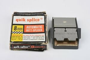 EXC++ QUIK SPLICE SPLICER IN BOX FOR 8mm MOVIE FILM, VERY CLEAN